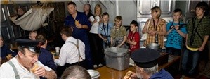 Image of a mess room on board HMS Belfast