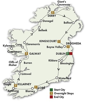 12 Day Irish Odyssey Escorted Tour