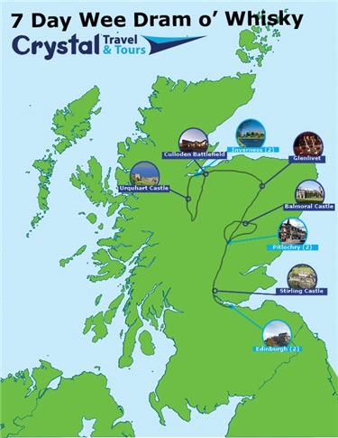 Wee Dram O' Whisky Trail | 7 Day Self-Drive Distillery Map Scotland on